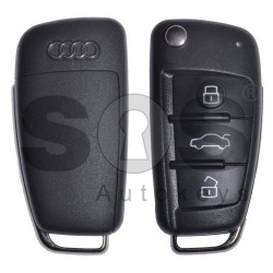 OEM Set for Audi Buttons:3 / Frequency: 434 MHz / Transponder: Megamos Crypto/ 128-bit/ AES / Blade Signature: HU66 / Immobiliser System: MQB / Set Part Number: 83C800375AB / Key Part No: 81A837220 / RIGHT DOOR