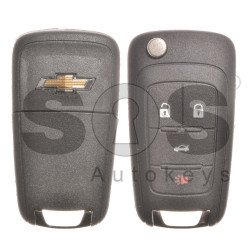 OEM Set for Chevrolet Buttons:3+1 / Frequency: 433MHz / Transponder: HITAG2/ ID46 / Blade Signature: HU100 / Manufacture: WITTE / Part No: GM13582820 / KEYLESS GO