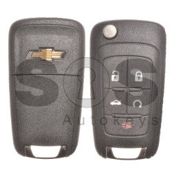 OEM Set for Chevrolet Camaro Buttons:4+1 / Frequency: 433MHz / Transponder: HITAG2/ ID46 / Blade Signature: HU100 / Manufacture: WITTE / Part No: GM13501260 / KEYLESS GO