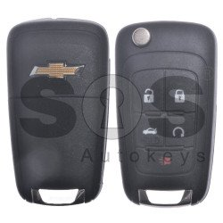 OEM Set for Chevrolet Buttons:4+1 / Frequency: 434MHz / Transponder: HITAG2/ ID46 / Blade Signature: HU100 / Manufacture: WITTE / Set Part No: 23138139 / KEYLESS GO
