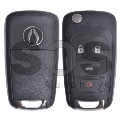 OEM Set for GM Buttons:3+1 / Transponder: HITAG2/ ID46 / Blade Signature: HU100 / Manufacture: WITTE / Set Part No: 20972880 / KEYLESS GO