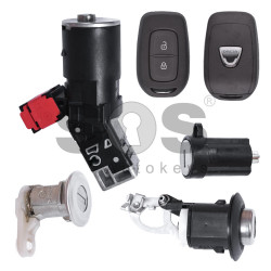 OEM Set for Dacia 2016+ Buttons:2 / Frequency: 433MHz / Transponder: PCF7961 / Immobiliser System:BCM / Part No: 806016453R