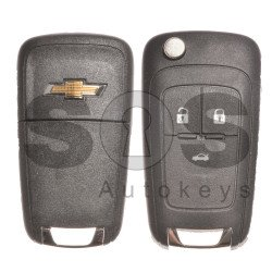 OEM Set for Chevrolet Buttons:3 / Frequency: 434MHz / Transponder: HITAG2/ ID46 / Blade Signature: HU100 / Manufacture: WITTE / Part No: GM13501938 / KEYLESS GO