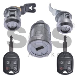 OEM Set for Ford Buttons:3+1 /  Frequency: 315MHz / Transponder: Texas Crypto 40/80-bit / ID6D / Blade Signature: FO24/ CY24 / Manufacture: FoMoCo / Set Part No: BC34 2522050 BH