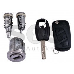 OEM Set for Ford KA Buttons:3 / Frequency: 433MHz / Transponder: PCF 7946 / Blade Signature:SIP22 / Locked / Part. No. 1838586