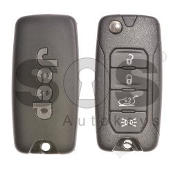 OEM Set for Jeep Buttons:4 / Frequency:434MHz / Transponder: Megamos 88/ AES (Locked) / Blade signature: SIP22 / Key ID: 2ADFTFI5AM43 3TX