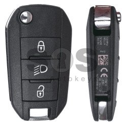 OEM Set For Peugeot 308/ 508/ 301 Buttons:3 / Frequency: 433MHz / Transponder: PCF7941 / Part No: 5FA01035304