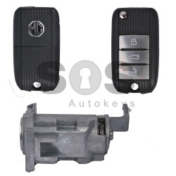 OEM Set for MG Buttons:3 / Frequency: 433MHz / No Transponder / Part No: B91987AH4190271 / Keyless Go