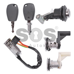 OEM Set Locks for Dacia Frequency:433MHz / Transponder: PCF7961/ ID47 / Immobiliser System:BCM