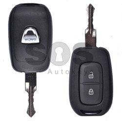 OEM Set for Dacia 2016+ Buttons:2 / Frequency: 433MHz / Transponder: HITAG 128-Bit AES / Immobiliser System:BCM / Part No: 806013815R