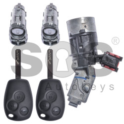 OEM Set for Ren Buttons:3 / Frequency: 434MHz / Transponder: HITAG2/ ID46 / PCF7947 / Blade signature:VA2 / Immobiliser System:BCM / Set Part No: 806010032R