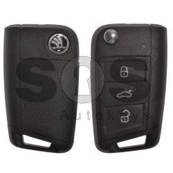OEM Set for Skoda Buttons:3 / Frequency: 433MHz / Transponder: MEGAMOS 88/ AES / Blade Signature:HU66 / Immobilaser system:MQB / Key Part No: 5G0959753 / RIGHT DOOR
