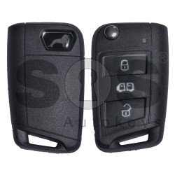 OEM Set for MAN Buttons:3 / Frequency: 434MHz / Transponder: Megamos Crypto 88/ AES / Blade Signature: HU162T / Immobiliser System: MQB / Key Part No: 7CE959753