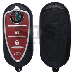 OEM Flip Key for Alfa Romeo Mito Buttons:3 Frequency 433 MHz  Transponder:PCF 7946 / ID 46  Delphi BSI