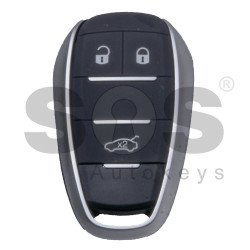 OEM Smart Key for Alfa Romeo Giulia/Stelvio Buttons:3 / Frequency: 433MHz / Trasnponder: HITAG 128-Bit AES / Blade signature: SIP22 / Immobiliser System: BCM / Keyless Go (OEM Board - Aftermarket Shell)