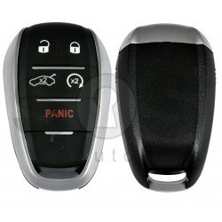 Smart Key for Alfa Romeo Giulia/Stelvio Buttons:4+1P / Frequency: 433MHz / Trasnponder: HITAG 128-Bit AES / Blade signature: SIP22 / Immobiliser System: BCM / Keyless Go / Automatic Start