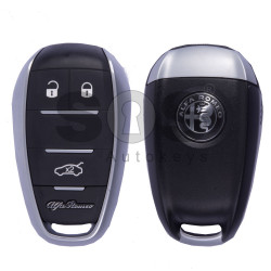 OEM Smart Key for Alfa Romeo Giulia/Stelvio Buttons:3 / Frequency: 433MHz / Trasnponder: HITAG 128-Bit AES / Blade signature: SIP22 / Immobiliser System: BCM / Keyless Go