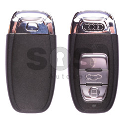 OEM Smart Key for Audi Buttons:3 / Frequency:868MHz / Transponder:HITAG Extended / Blade signature:HU66 / Immobiliser System:BCM 2 / Part No:8T0 959 754 D