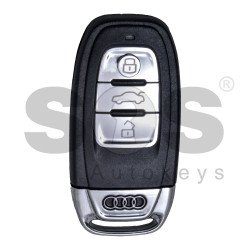 Smart Key for Audi  Buttons:3 / Frequency:868 MHz / Transponder:PCF 7945AC / Part No:4DO 959 754 J / Blade signature:HU66 / Immobiliser System: BCM 2 ( With Blade)