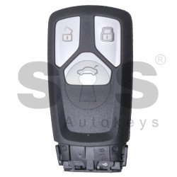 OEM Smart Key for Audi RS 2015+ Buttons:3 / Frequency: 434MHz / Transponder: Megamos 88/ AES / Blade signature: HU162T / Immobiliser System: MQB / Part No: 8S0.959.754.CQ/ 8S0.959.754.CP/ 8S0.959.754.CL / 8S0.959.754.CB / 8S0.959.754.BM / Keyless Go