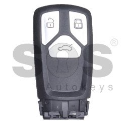 OEM Smart Key for Audi TT/A3 2015+ Buttons:3 / Frequency: 434MHz / Transponder: Megamos 88/ AES / Blade signature: HU162T / Immobiliser System: MQB / Part No: 8S0.959.754.CN/ 8S0.959.754.CM/ 8S0.959.754.CK / BH / BD / Keyless Go