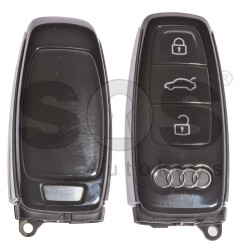 OEM Smart Key for Audi A8 2017+ Buttons:3 / Frequency: 434MHz / Blade signature:HU162T / Part No:4N0 959 754 J / Keyless Go
