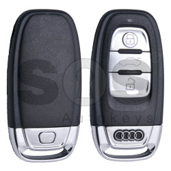 OEM Smart Key for Audi A4/Q5/A5 Buttons: 3 / Frequency: 868MHz / Transponder: HITAG Audi/ PCF7945ATJ /  Blade signature: HU66 / Part No: 8K0959754D / Keyless Go