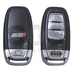 OEM Smart Key for Audi S7 Buttons: 3 / Frequency: 434MHz / Transponder: HITAG Audi/ PCF7945ATJ /  Blade signature: HU66 / Immobiliser System: BCM / Part No: 810959754C / Keyless Go