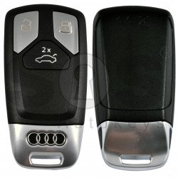 OEM Smart Key for Audi Buttons:3 / Frequency:433 MHz / Transponder:Newest / Blade signature:HU162T /  Part No: 4M0 959 754 AT /  Keyless GO