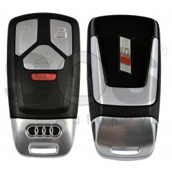 OEM Smart Key for Audi Buttons:3+1P / Frequency:433 MHz / Transponder:Newest / Blade signature:HU162T /  Part No: 4M0.959.754.BA; 4M0.959.754.BD; 8W0.959.754.CD /  Keyless GO