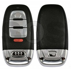 OEM Smart Key for Audi Buttons:3+1P / Frequency: 315MHz / Transponder: HITAG Audi/ PCF7945 / Blade signature:HU66 / Immobiliser System:BCM / Part No: 8K0 959 754B / Keyless GO