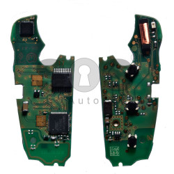 Flip Key (PCB) For Audi A6 / Q7 2003 - 2015 Buttons:3 / Frequency:868MHz / Transponder:ID8E / Blade signature:HU66 / Immobiliser System:Kessy / Part No:4F0 837 220 R