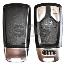 OEM Smart Key for Audi Q7 2015+ Buttons:3 / Frequency:433 MHz / Transponder:Newest / Blade signature:HU162T /  Part No: 4M0 959 754 AJ/4M0 959 754 T/4M0 959 754 AA / Keyless GO