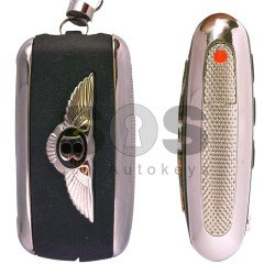 OEM Flip Key for Bentley Buttons:3 / Frequency:315MHz / Transponder:PCF 7943 / Blade signature:HU66 / Immobiliser System:Kessy / Keyless Go