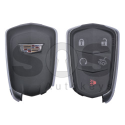 OEM Smart Key for Cadillac Proximity Buttons:4+1 / Frequency: 315MHz / Transponder: HITAG2/ ID46/ PCF 7937E / Blade signature:HU100 / FCC ID: HYQ2AB / Keyless Go (Automatic Start)