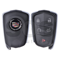 OEM Smart Key for Cadillac ATS 2015 Buttons:4+1 / Frequency: 433 MHz / Transponder: HITAG2/ ID46/ PCF7937E / Blade signature: HU100 / Part No: 13580793 / Keyless Go (Automatic Start)