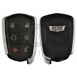 OEM Smart Key for Cadillac Buttons:5+1 / Frequency: 433 MHz / Transponder: HITAG2/ ID46/ PCF7937E / Blade signature: HU100 / Part No: 13598516A / Keyless Go (Automatic Start)