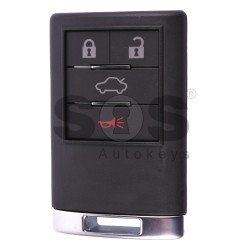OEM Smart Key for Cadillac Buttons:4 / Frequency:433MHz / Transponder:PCF 7952 / Blade signature:HU100 / Part No:9259721-02/TIK-CAD-32 / Keyless Go