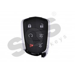 OEM Smart Key for Cadillac Buttons:5+1 / Frequency: 315 MHz / Transponder: HITAG2/ ID46/ PCF7937E / Blade signature: HU100 / Part No: 13580812 / Keyless Go (Automatic Start)