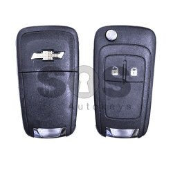 OEM Flip Key for Chevrolet Cruze Buttons:2 / Frequency:433MHz / Transponder:PCF Type E/HITAG 2/ID46 / Part No:GM13587613 / Blade signature:HU100 / Immobiliser  System:BCM / Keyless Go