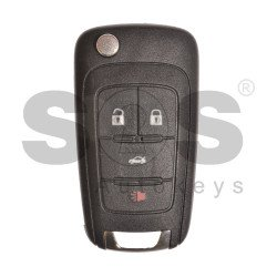 OEM Flip Key for Chevrolet Buttons:4 / Frequency:315MHz / Transponder:HITAG2/ID46 / Blade signature:HU100 / Immobiliser System:BCM / Part No:13500223