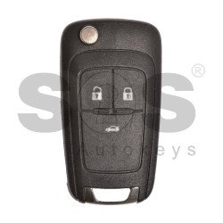OEM Flip Key for Chevrolet Buttons:3 / Frequency:315MHz / Transponder:HITAG2/ID46 / Blade signature:HU100 / Immobiliser SystemBCM / Part No:13500223/13500460