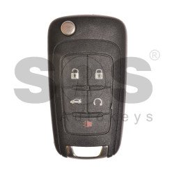 OEM Flip Key for Chevrolet / Buttons:5 / Frequency: 315MHz /Transponder: HITAG2/ ID46 / Blade signature: HU100 / Immobiliser System: BCM