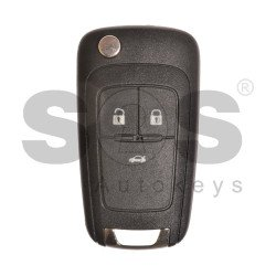 OEM  Flip Key for Chevrolet Buttons:3 / Frequency:315 MHz /Transponder:HITAG2/ID46 / Blade signature:HU100 / Immobiliser System:BCM / Part No:13500317/13500217 / Keyless GO