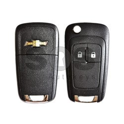 OEM Flip Key for Chevrolet Buttons:2 / Frequency:433MHz / Transponder:PCF 7937 / Blade signature:HU100 / Immobiliser System:BCM / Part No:13500218