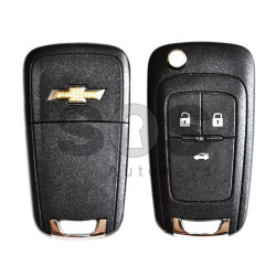 OEM Flip  Key for Chevrolet Cruze Buttons:3 / Frequency:433MHz / Transponder:PCF 7937 / Blade signature:HU100 / Immobiliser System:BCM / Part No:GM13500219