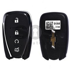 OEM Smart Key for Chevrolet Malibu Buttons:4 / Frequency:315MHz / Transponder:PCF 7937E / Blade signature:HU100 / Immobiliser System:BCM / Keyless Go (Automatic Start)