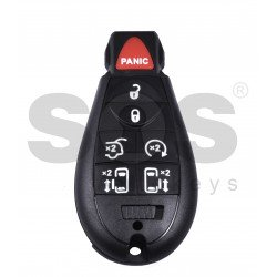 Smart  Key for Jeep/Chrysler/Dodge Buttons:6+1 / Frequency: 433MHz / Transponder: PCF7941 / Blade signature: CY24