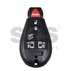 Smart  Key for Jeep/Chrysler/Dodge Buttons:5+1 / Frequency: 433MHz / Transponder: PCF7941 / Blade signature: CY24