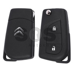 OEM Flip Key for Citroen C1 2015+ Buttons:2 / Frequency:434MHz / Transponder:Tiris DST AES / Blade signature:TOY48 / Immobiliser System:BCM / Part No:161 240 9480/161 248 9580/1612489580/1612489480